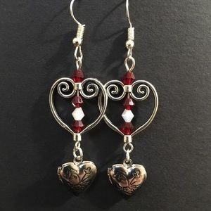Hand crafted heart earrings